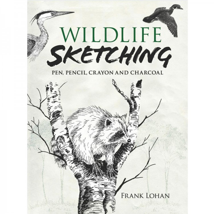 Wildlife Sketching: Pen:Pencil:Crayon and Charcoal : Book by Frank Lohan