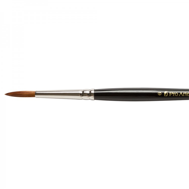 Pro Arte : Prolene : Synthetic Brush : Series 101 : Round : Size 6