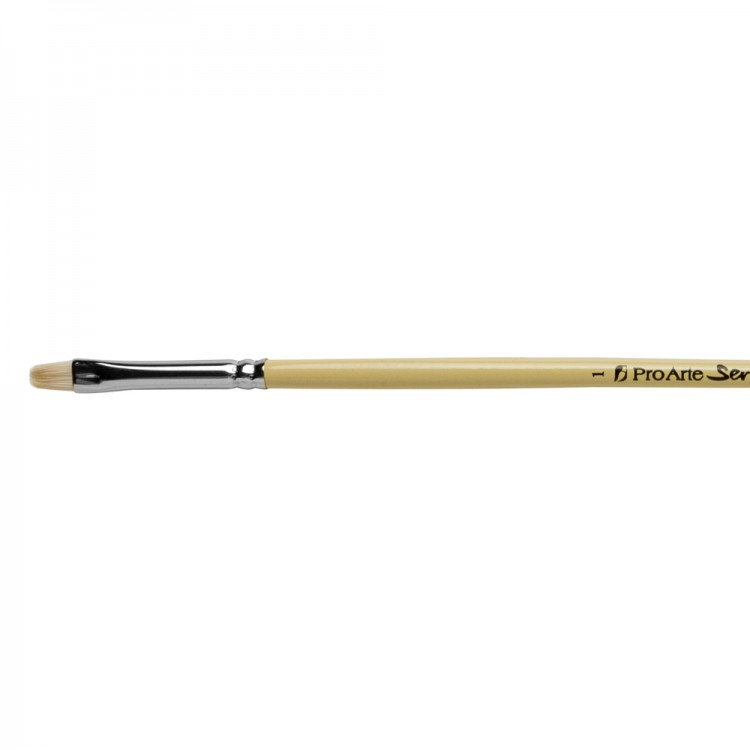 Pro Arte : Series B Hog : Bristle Brush : Short Flat : Size 1