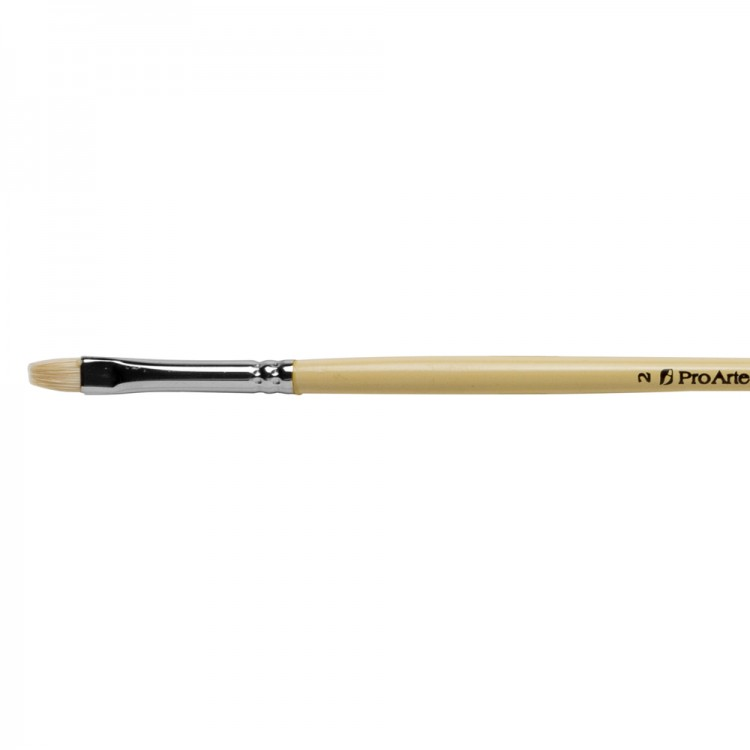 Pro Arte : Series B Hog : Bristle Brush : Short Flat : Size 2