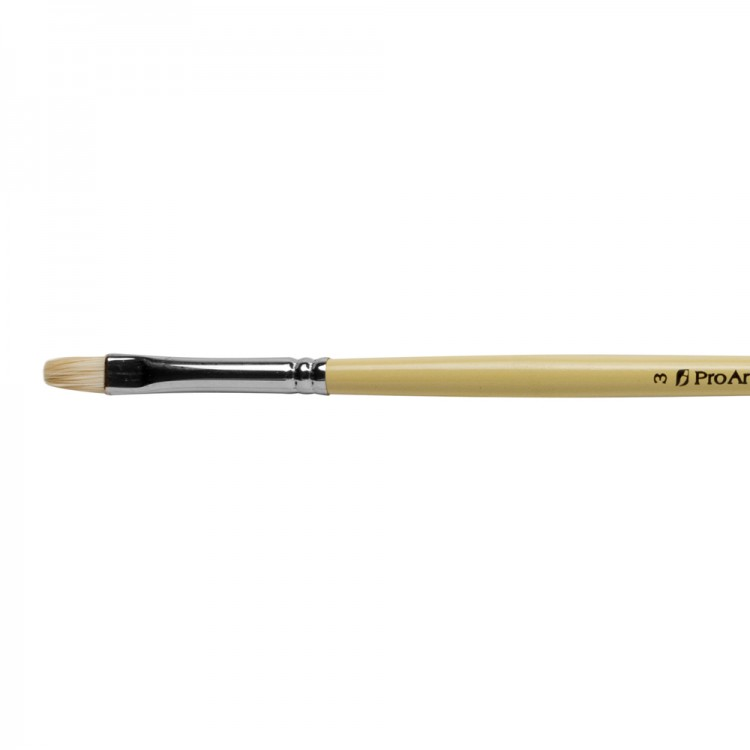 Pro Arte : Series B Hog Bristle Size 3 Short Flat
