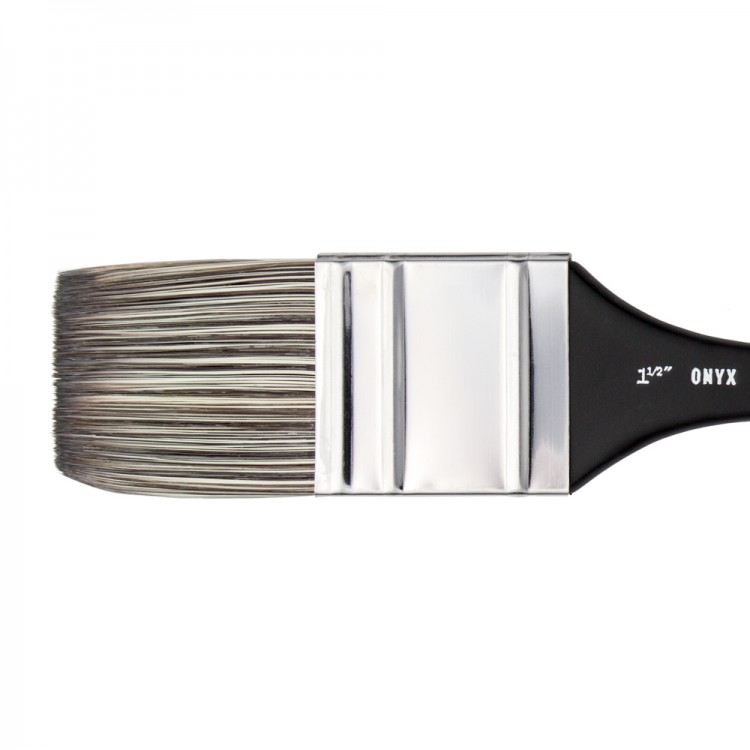 Jackson's : Onyx : Synthetic Brush : Flat Mottler : 1.5in