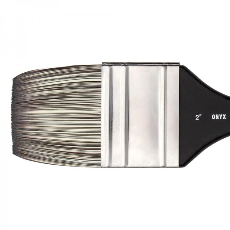 Jackson's : Onyx : Synthetic Brush : Flat Mottler : 2in