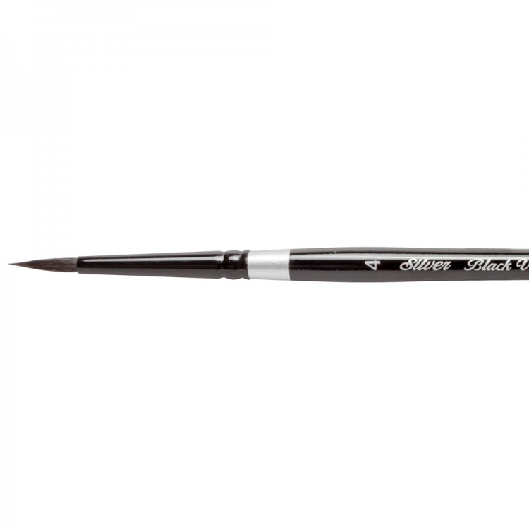 Silver Brush : Black Velvet : Squirrel & Risslon Brush : Series 3000S : Round : Size 4