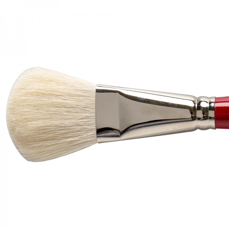 Silver Brush : White Oval Mop : Series 5519S : Size 1in