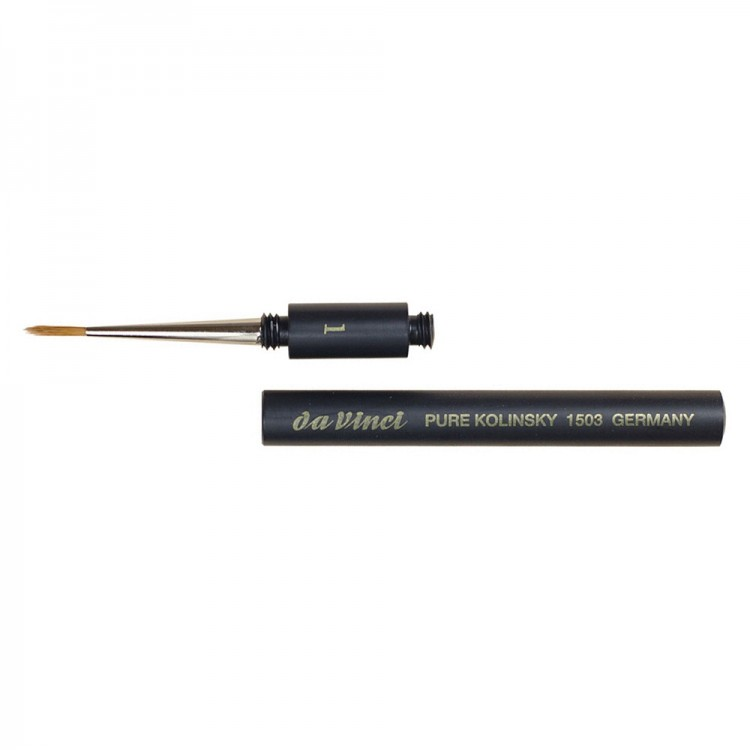 Da Vinci : Kolinsky Sable Pocket Brush : Series 1503 : Size 1