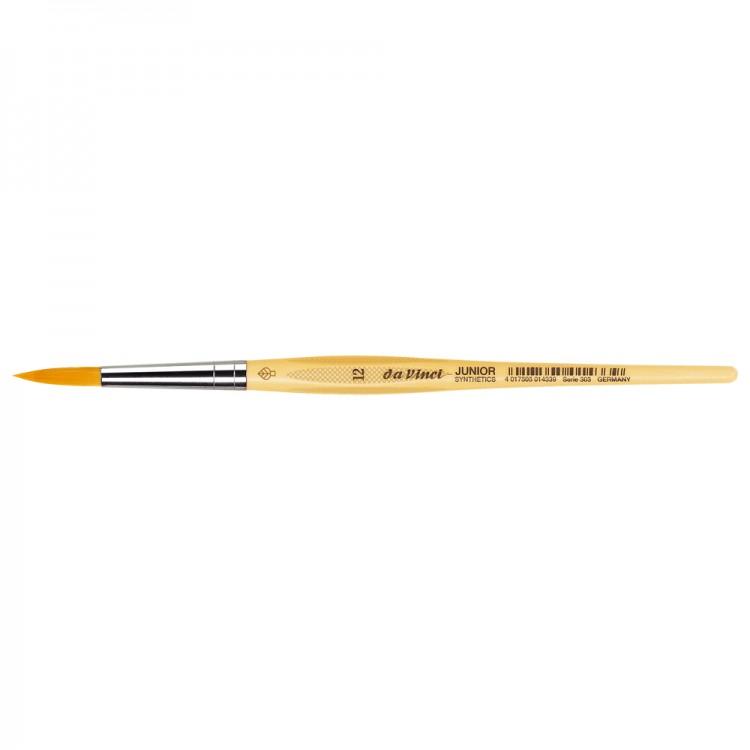 Da Vinci : Junior : Synthetic School Painting Brush : Round : Size 12