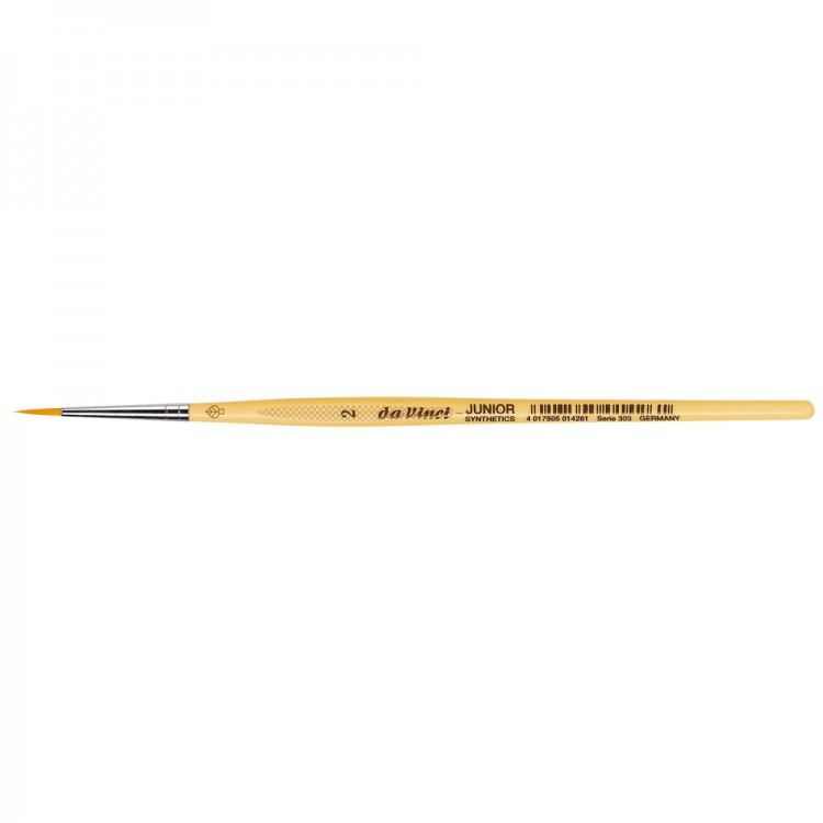 Da Vinci : Junior : Synthetic School Painting Brush : Round : Size 2