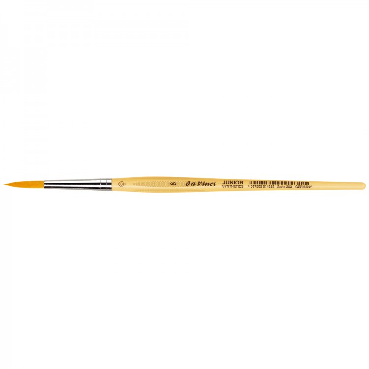 Da Vinci : Junior : Synthetic School Painting Brush : Round : Size 8
