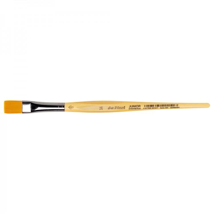 Da Vinci : Junior : Synthetic School Painting Brush : Flat : Size 14