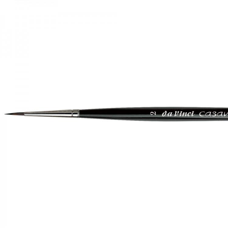 Da Vinci : Casaneo : Synthetic Watercolour Brush : Series 5598 : Round : Size 2