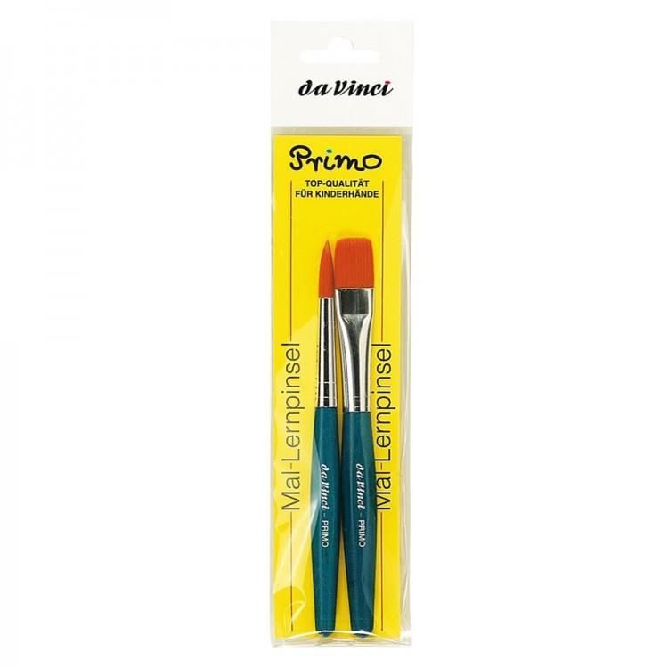 Da Vinci : Primo : Synthetic : Blue handle : Set of 2
