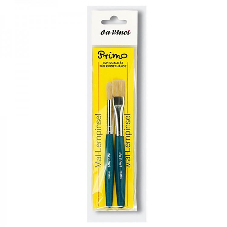 Da Vinci : Primo : Bristle : Blue handle : Set of 2
