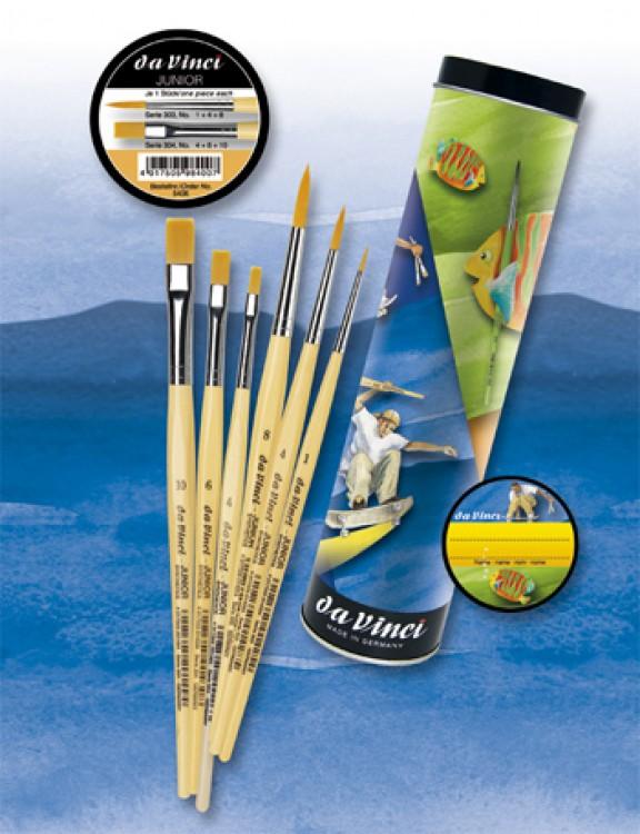Da Vinci : Junior Gift box : Childrens Brush Set : Series 303 #1,4,8 304 #4,6,10