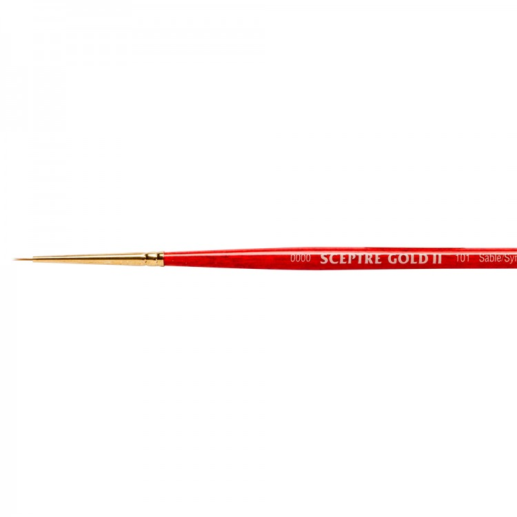 Winsor & Newton : Sceptre Gold Brush : Series 101 : Round 4/0