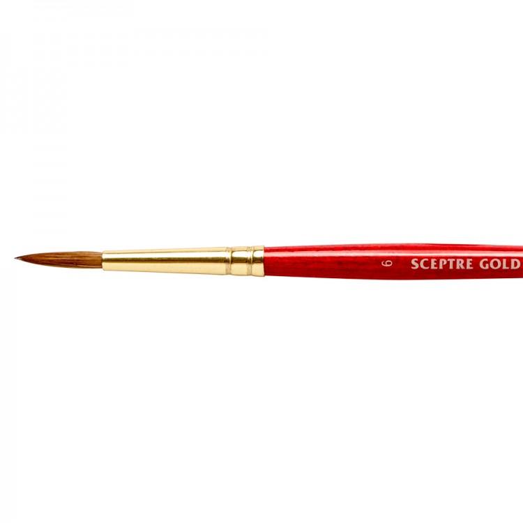 Winsor & Newton : Sceptre Gold Brush : Series 101 : Round No 6