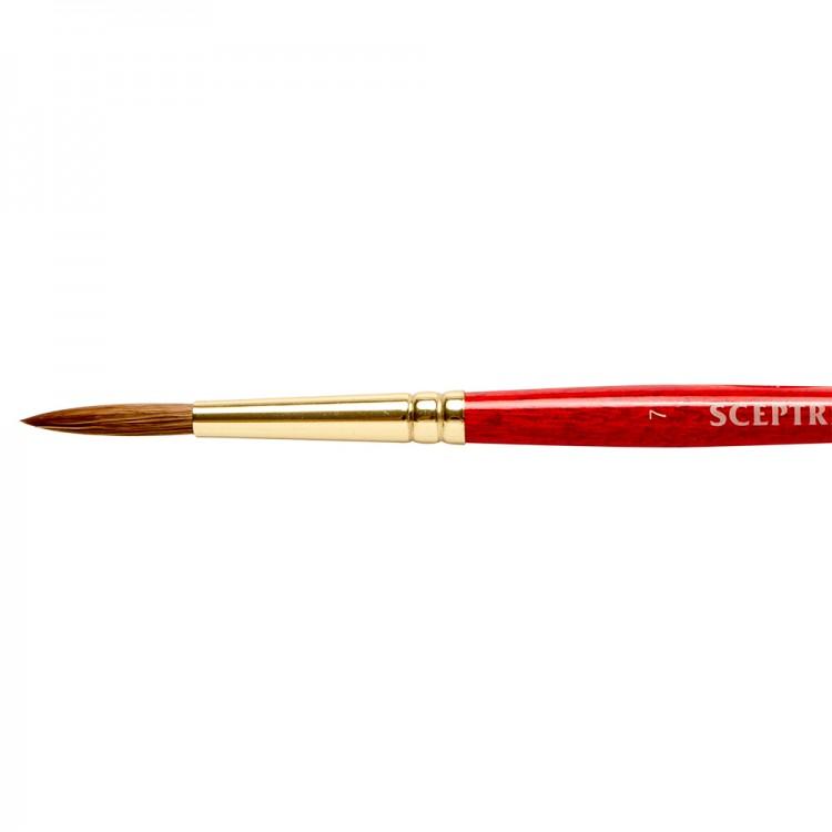 Winsor & Newton : Sceptre Gold Brush : Series 101 : Round No 7