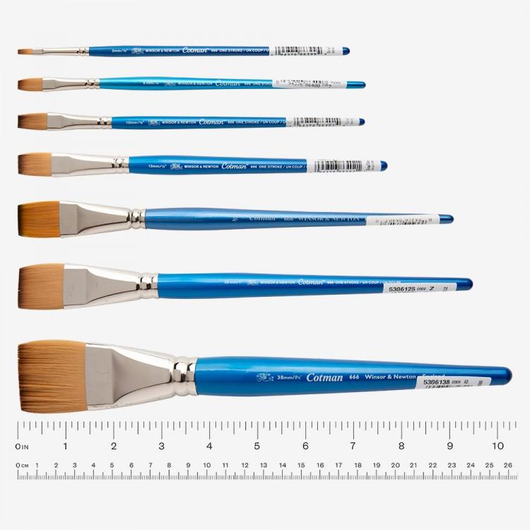 W&N : Cotman Brush : Series 666 : One Stroke : 1/8in