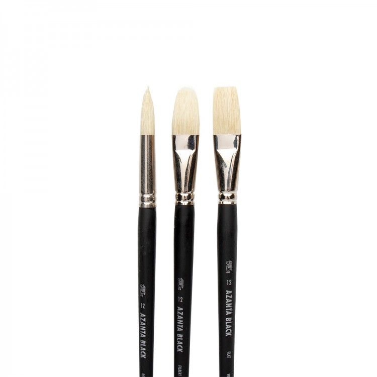 Winsor & Newton : Azanta Black Brush : Set of 3