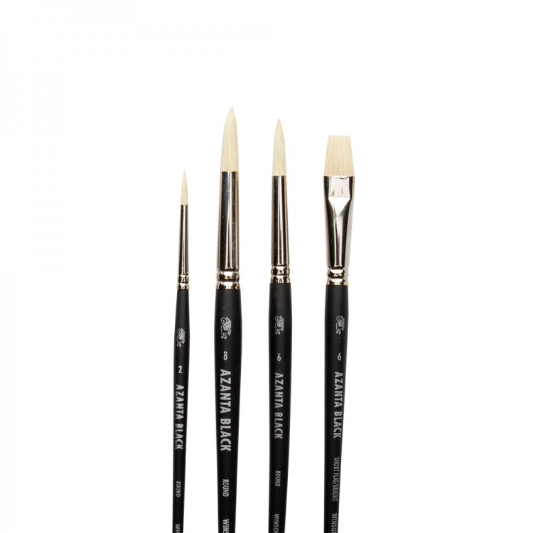 Winsor & Newton : Azanta Black Brush : Set of 4