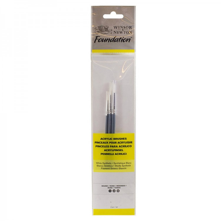 Winsor & Newton : Foundation Acrylic Brush Set : SH Round 1, 3 & 5