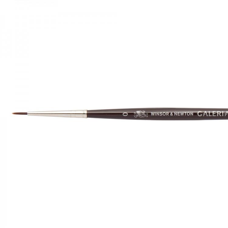 W&N : Galeria Brush : Short Handled : Round : No 0