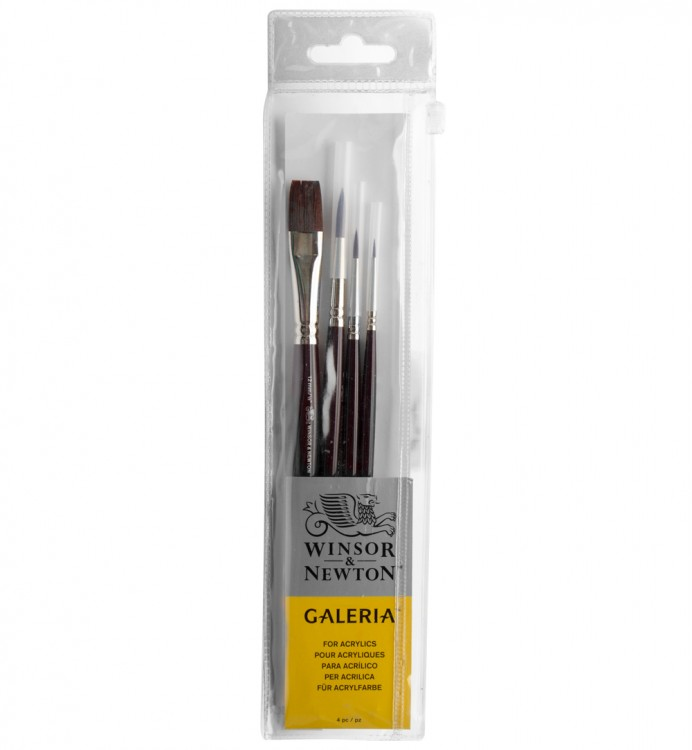 Winsor & Newton : Galeria : Acrylic Brush : Set of 4