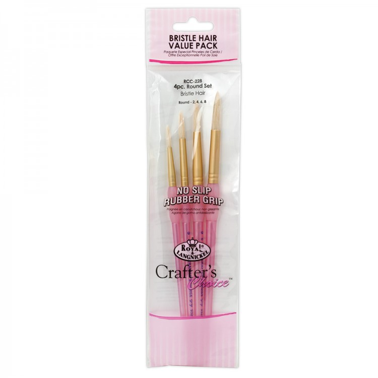 Royal Brush : 4Pc Bristle Hair Round Brush Set