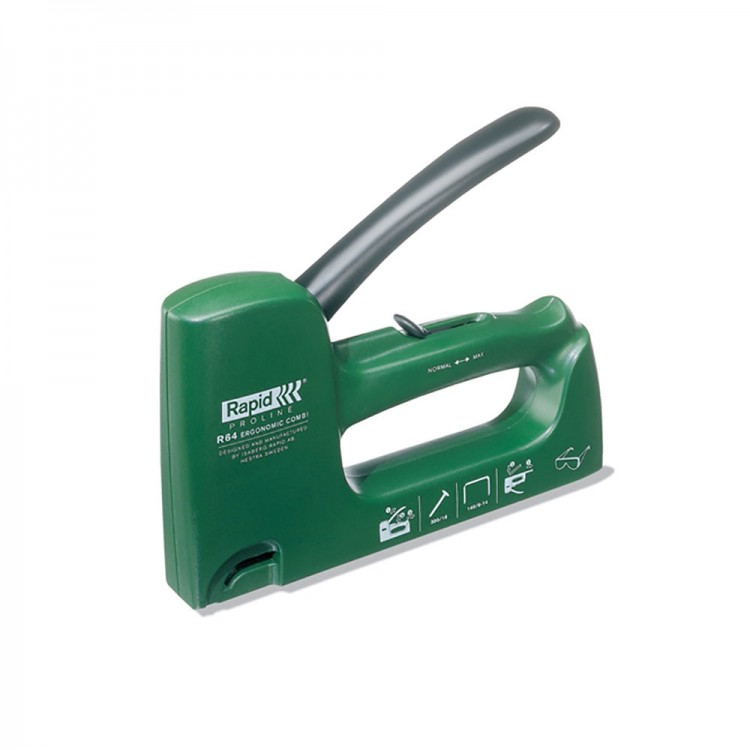 Rapid : Staple Gun : Light Duty Plastic Tacker Gun