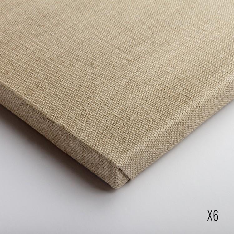 Belle Arti : Linen 36/648 : Uni. Clear Primed Medium Grain : 60x70cm : Box of 6