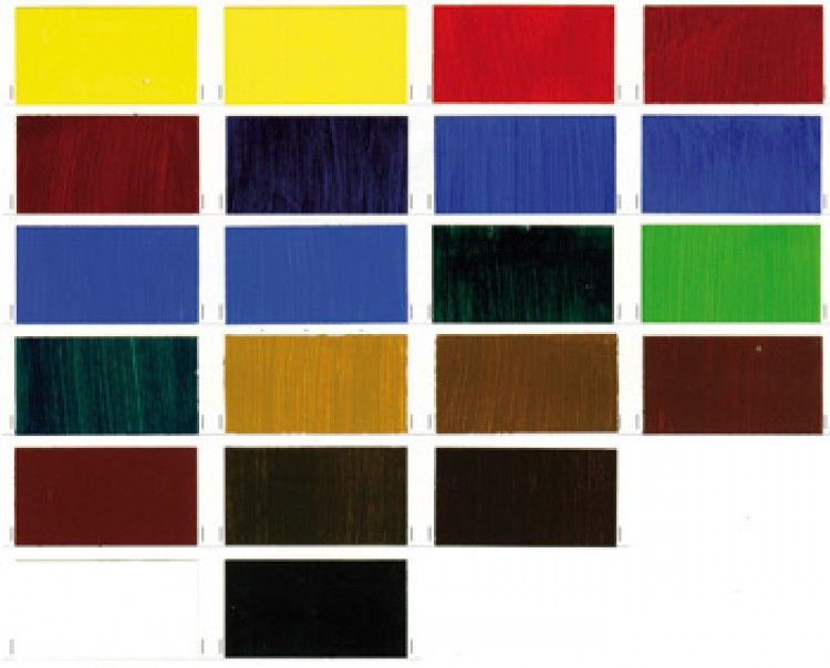 Jackson's Hand Painted Oil Paint Chart