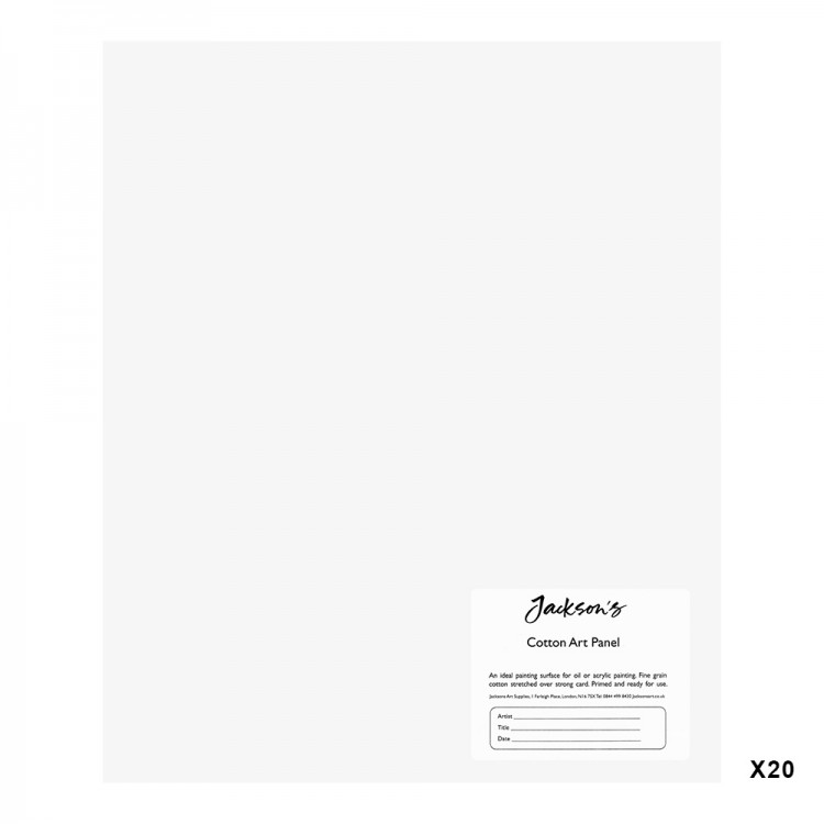 Jackson's : 3mm Cotton Art Board : Canvas Panel : 10x12in : 20 Pack