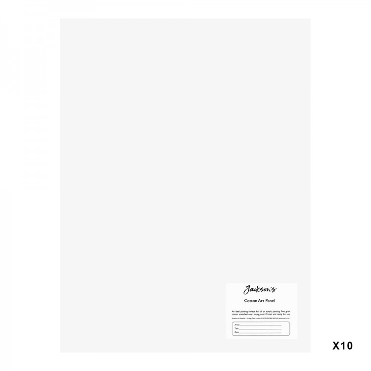 Jackson's : 3mm Cotton Art Board : Canvas Panel : 12x16in : 10 Pack