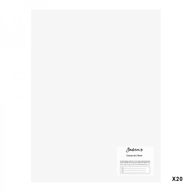 Jackson's : Academy 3mm Cotton Art Board : Canvas Panel : 12x16in : 20 Pack