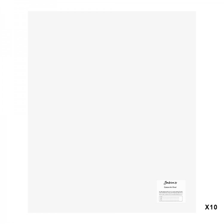 Jackson's : Academy 3mm Cotton Art Board : Canvas Panel : 20x24in : 10 Pack