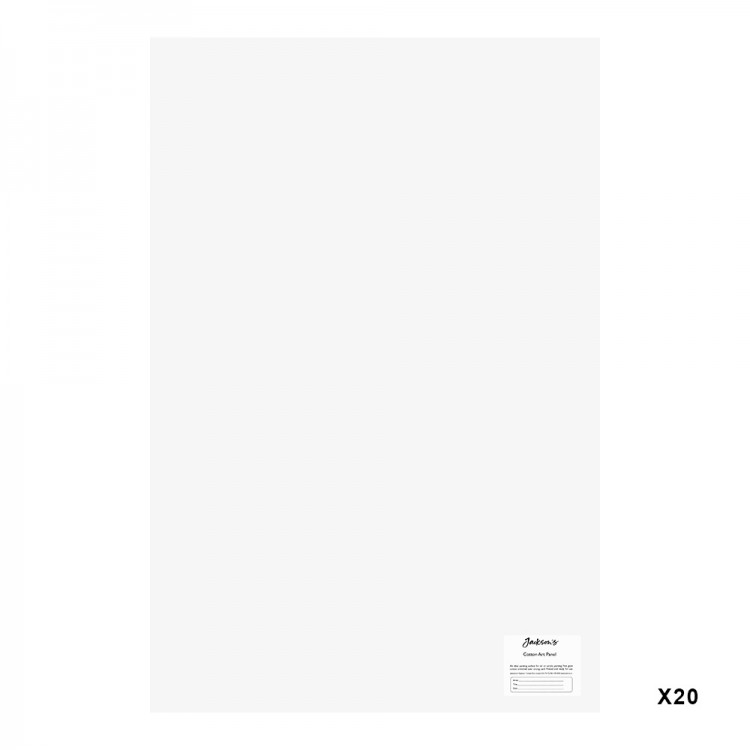 Jackson's : 3mm Cotton Art Board : Canvas Panel : 20x30in : 20 Pack