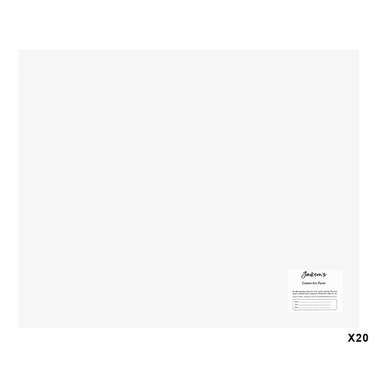Jackson's : Academy 3mm Cotton Art Board : Canvas Panel : 22x18in : 20 Pack