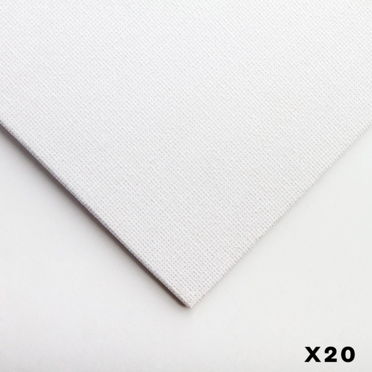 Jackson's : Academy 3mm Cotton Art Board : Canvas Panel : 24x18in : 20 Pack