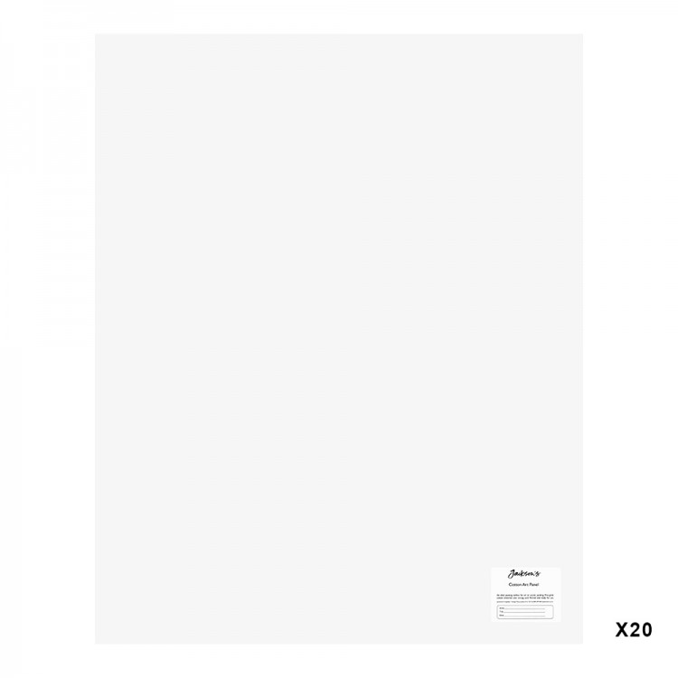 Jackson's : 3mm Cotton Art Board : Canvas Panel : 24x30in : 20 Pack