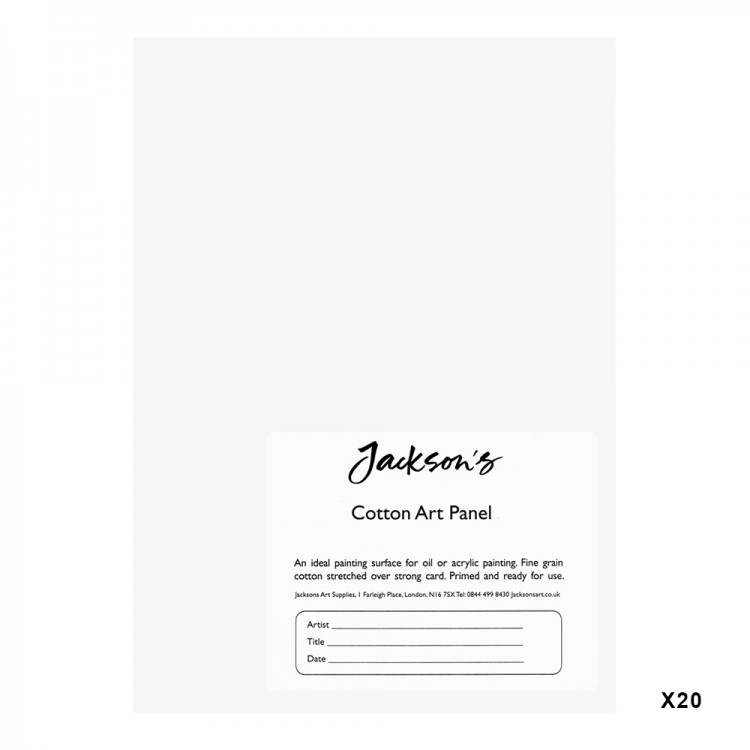 Jackson's : Academy 3mm Cotton Art Board : Canvas Panel : 5x7in : 20 Pack