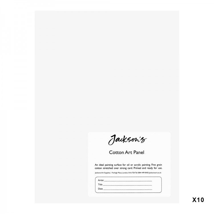 Jackson's : Academy 3mm Cotton Art Board : Canvas Panel : 6x8in : 10 Pack