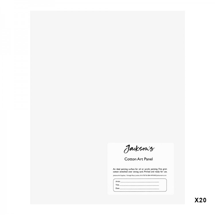 Jackson's : 3mm Cotton Art Board : Canvas Panel : 8x10in : 20 Pack