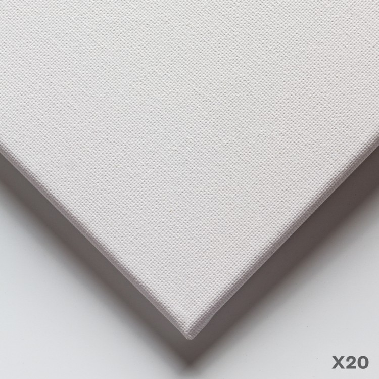 JAS : 18mm Basic Quality Cotton Stretched Canvas : 6x8in : Box of 20