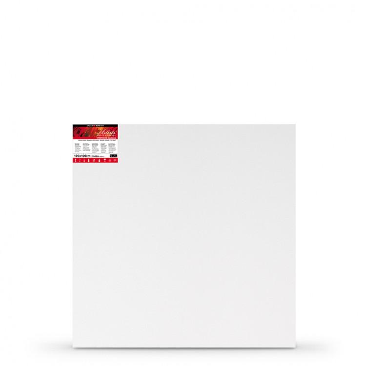 Daler Rowney : Stretched Canvas : 100x100cm : Square : Medium Grain : 28mm Depth