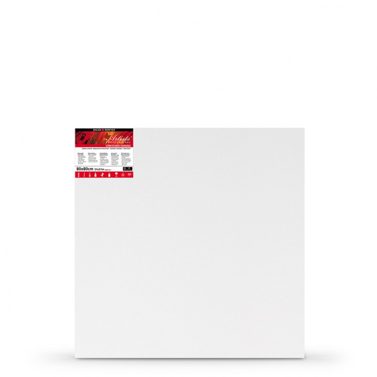 Daler Rowney : Stretched Canvas : 80x80cm : Square : Medium Grain