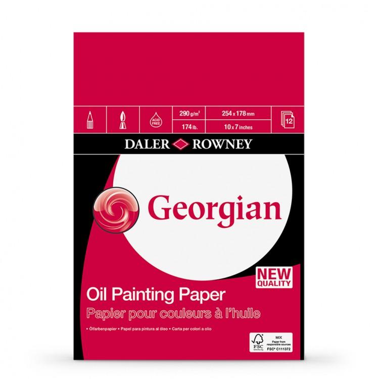 Daler Rowney : Georgian Oil : Pad : 10x7in