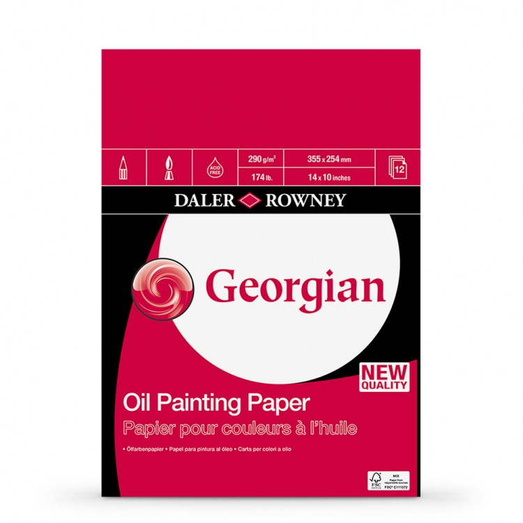 Daler Rowney : Georgian Oil : Pad : 14x10in