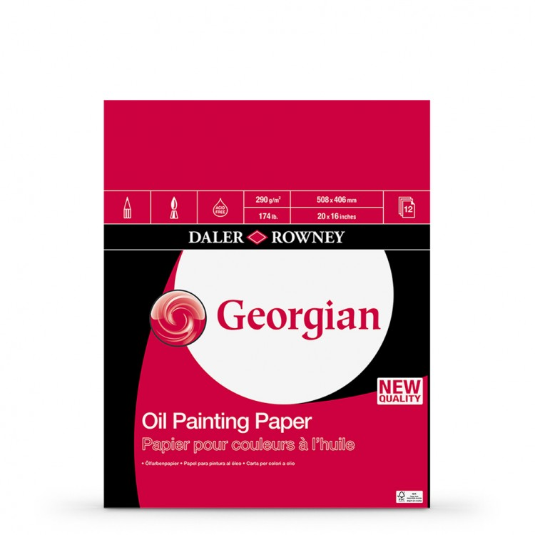 Daler Rowney : Georgian Oil : Pad : 20x16in