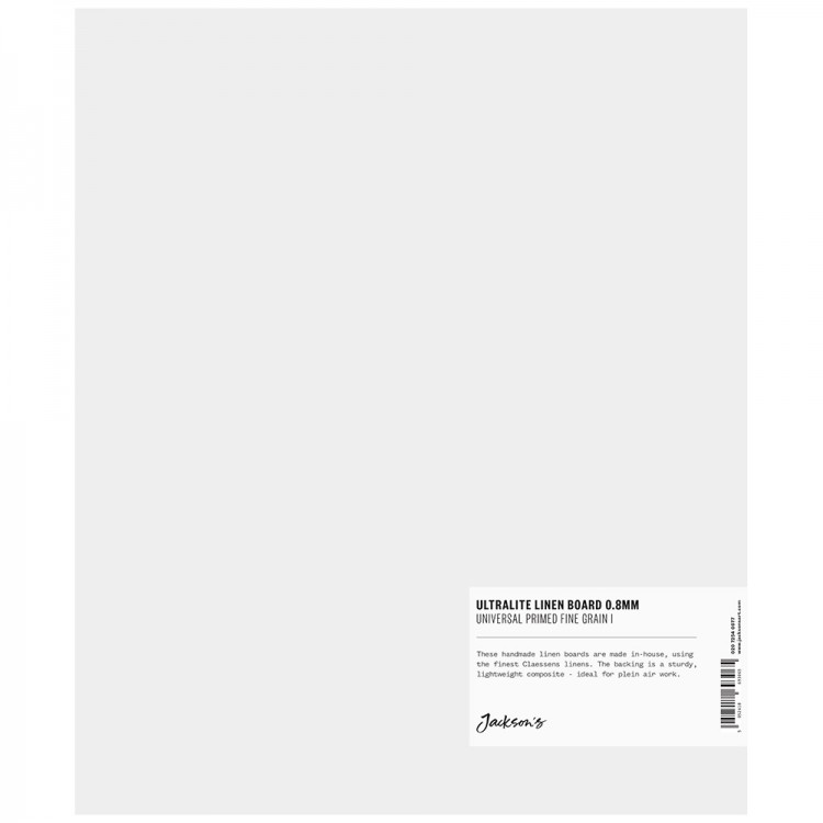 Jackson's : 0.8mm : Ultralite Linen Board : 10x12in : Claessens 109 Fine Linen Surface : Universal Primed : 363gsm