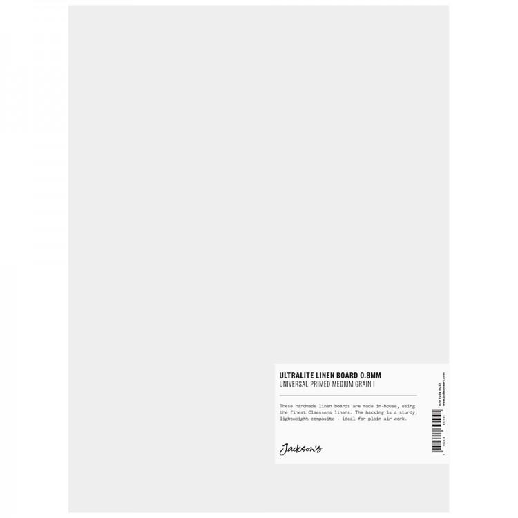 Jackson's : 0.8mm : Ultralite Linen Board : 9x12in : Claessens 166 Medium Surface : Universal Primed : 415gsm